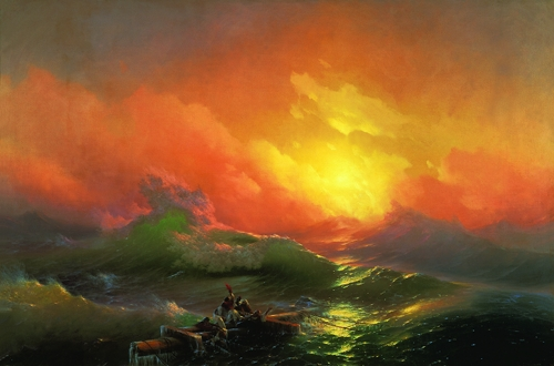 Ivan Aivazovsky (1817–1900) - The Ninth Wave